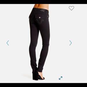 True Religion Black Super Skinny Jeans Size 28